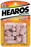 Hearos Ultimate Softness Lot de 20 paires de bouchons d'oreille réutilisables