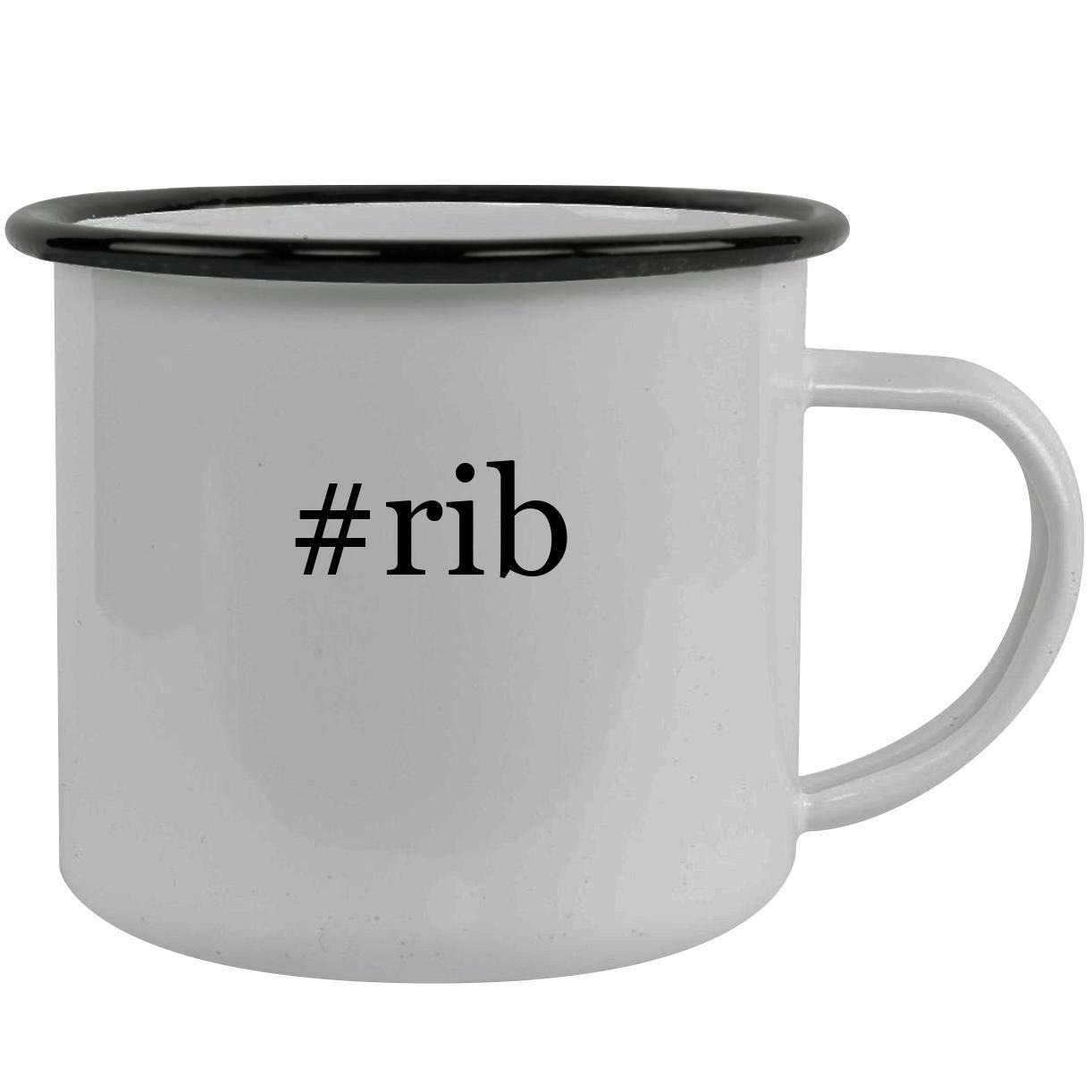 #rib - Stainless Steel Hashtag 12oz Camping Mug