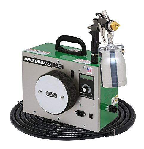 Apollo HVLP Precision Series 5 Stage Turbine with A7500QT Spray Gun, 24 Foot Hose, Deluxe Needle Cap and Nozzle Kit and FREE Gun Cleaning Kit, Viscosity Meter and Wet Mil Gauge (worth $96)! - Deluxe Turbine