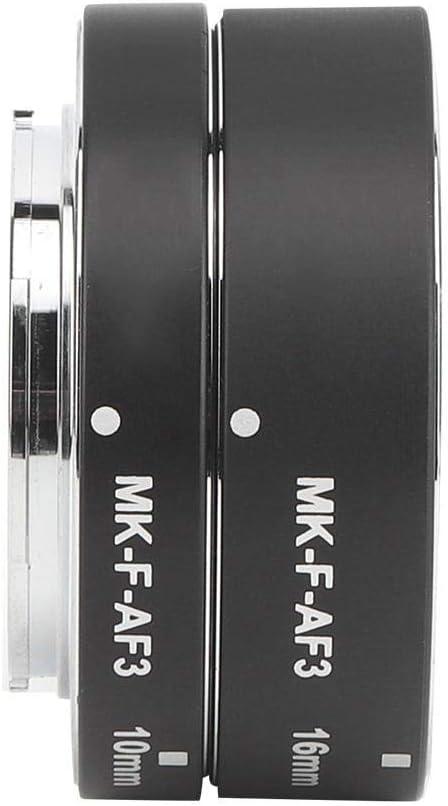 Camera Macro Lens Ring MK-F-AF3 Metal Nickel Plating Macro Lens Ring Extension Tube for Fuji X Mount Whole Series X-T1 X-T2 X-Pro1 X-Pro2 X-T10 X-A1 X-E1 X-E2 X-E3 X-T20 X-T3 X-T30 etc.