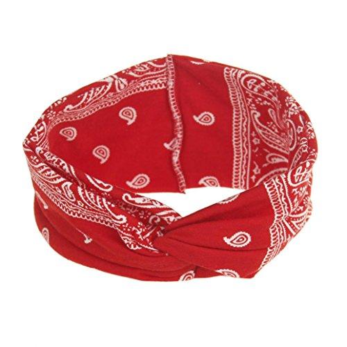 AutumnFall Womens Headbands Yoga Sport Elastic Floral Hair B