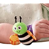 Kuhu Creations Cute & Stylish Soft Baby Rattles. (2 Units, Style A: Multicolor 2 Wrist Rattle)