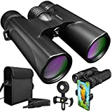 Cheap Waterproof 10×42 Binoculars For Adults. Lightweight Compact Binocular 10×42 Prism BAK4. HD Binocular For Bird Watching Hunting Traveling And Sightseeing With Smartphone Adapter