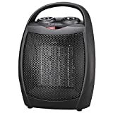 andily Space Heater Electric Heater for Home and Office Ceramic Small Heater with Thermostat, 750W/1500W