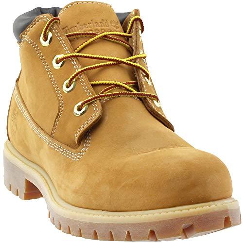 (Timberland Mens Boots Premium Chukka Waterproof Wheat Suede Style#)