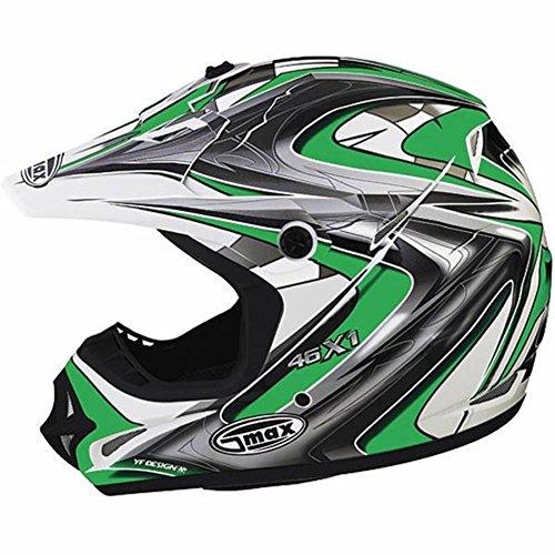 G-Max Visor for GM46X-1 Helmet - White/Black/Silver Core - Md-3XL -