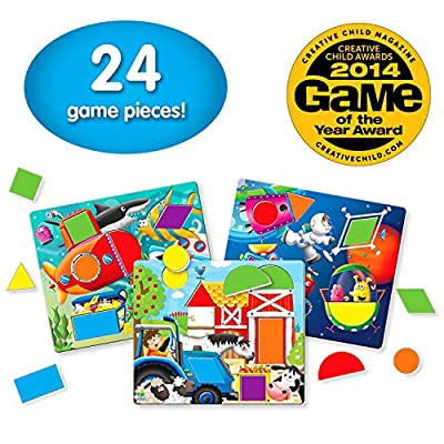 The Learning Journey: Match It! - Fun With Shapes - A Matching Game for up to 4 Players: Toys & Games