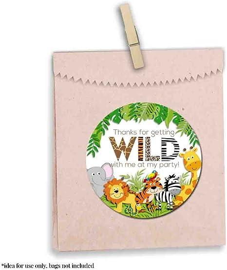 Personalizzata Carino GRIZZLY ORSO Zoo grazie ADESIVI PARTY CARAMELLE CAKE-n471