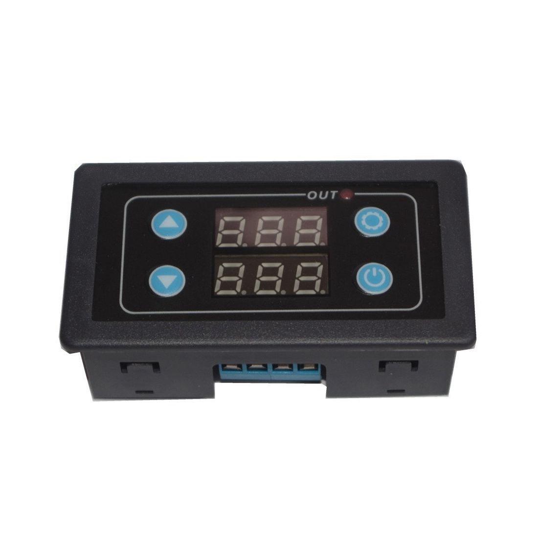 SODIAL Programable DC24V Interruptor de temporizador de rele de retardo de ciclo digital de 1 canal Pantalla LED 0-999 horas