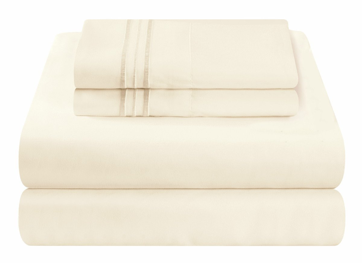 Mezzati Luxury Waterbed Sheets Set - #1 On Amazon Ivory, King