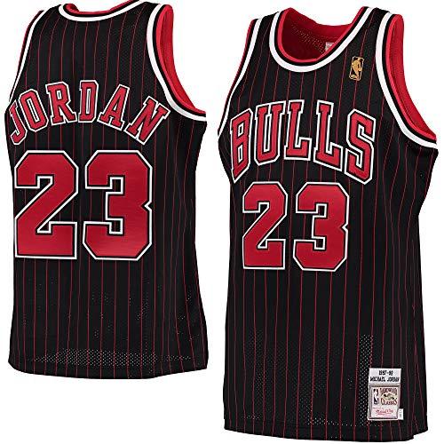 c1416aa36f7 Men's 1997-98 Michael Jordan Chicago Bulls #23 Hardwood Classics Authentic  Jersey (L) Black