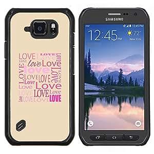 LECELL--Funda protectora / Cubierta / Piel For Samsung Galaxy S6Active Active G890A -- El amor de la tipografía de la caligrafía Mensaje --