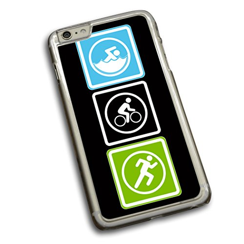 Run Swim Bike Blocks - Triathlon iPhone Case Swim Bike Run Blocks iPhone 6 Plus Case | Triathlon Phone Cases by ChalkTalkSPORTS | Black