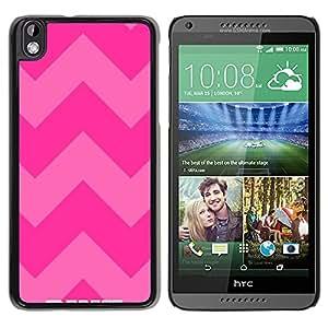 For HTC DESIRE 816 Case , Pink Purple Pattern Text Summer - Diseño Patrón Teléfono Caso Cubierta Case Bumper Duro Protección Case Cover Funda