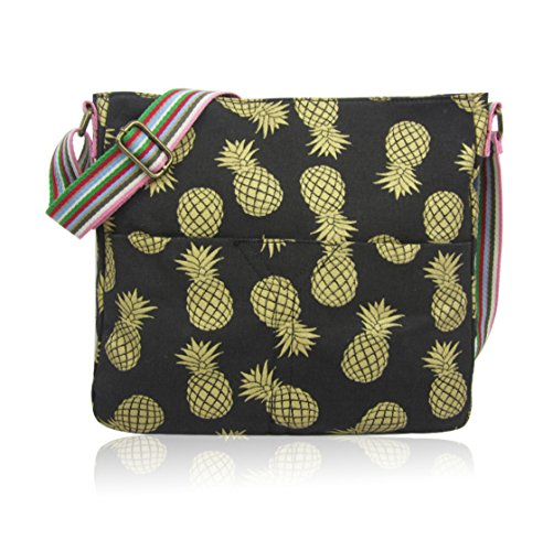 Girls Pineapple Bags Messenger WHALE NEW Bag RABBIT Ladies Cross Craze black UNICORN CRITTERS Bag CAT London MIXED Canvas ANCHOR UMBERILLA ELEPHANT School Body z1RUxnt
