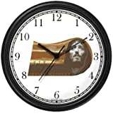Jesus Christ - Christian Theme Wall Clock by WatchBuddy Timepieces (Hunter Green Frame)