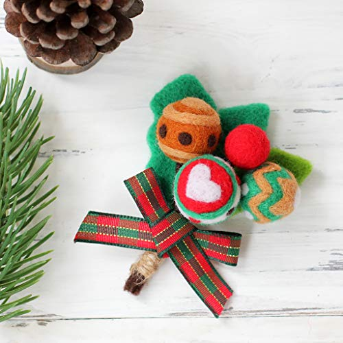 UJuly Needle Felted Christmas Style Clothes Bag Ornaments - Lollipop ()