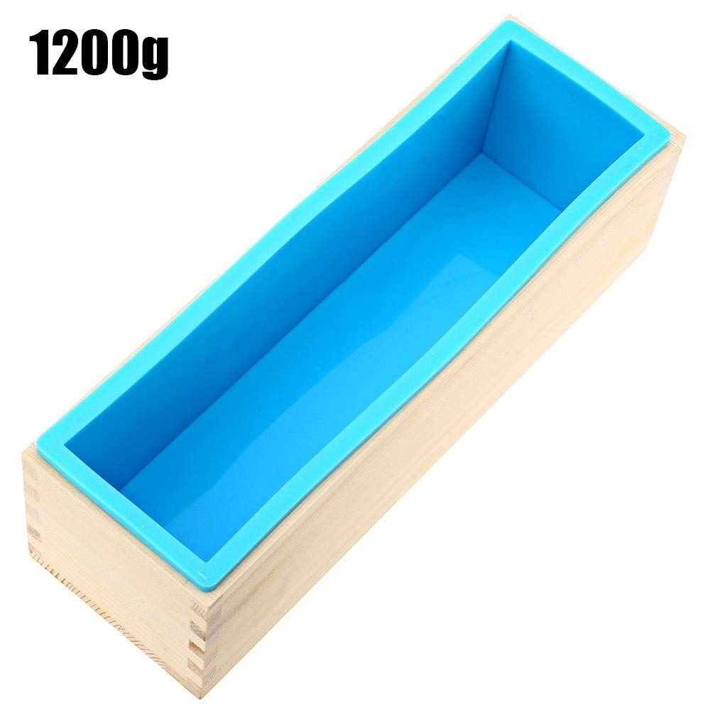 900g 1200g Silicone Soap Loaf Mold Wooden Box DIY Making Tools