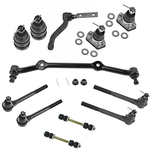 12 Piece Kit Front LH RH Ball Joint Sway Bar Link Tie Rod End for S10 S15 -