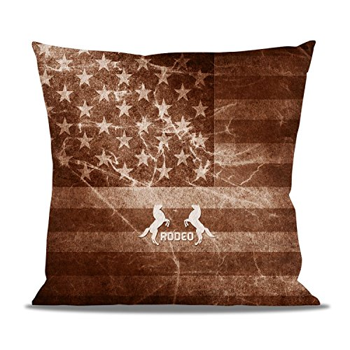 Vintage Rodeo Rustic Fleece Cushion - Square Cushion