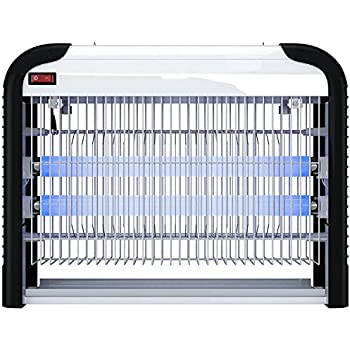 PestZilla™ Robust UV Electronic Bug Zapper – 20 Watts, Large-area Protection - Up to 6,000 Sq. Feet / For Indoor Use – Kills Flies, Mosquitoes, Insects, Etc. – Enjoy an Insect Free Environment