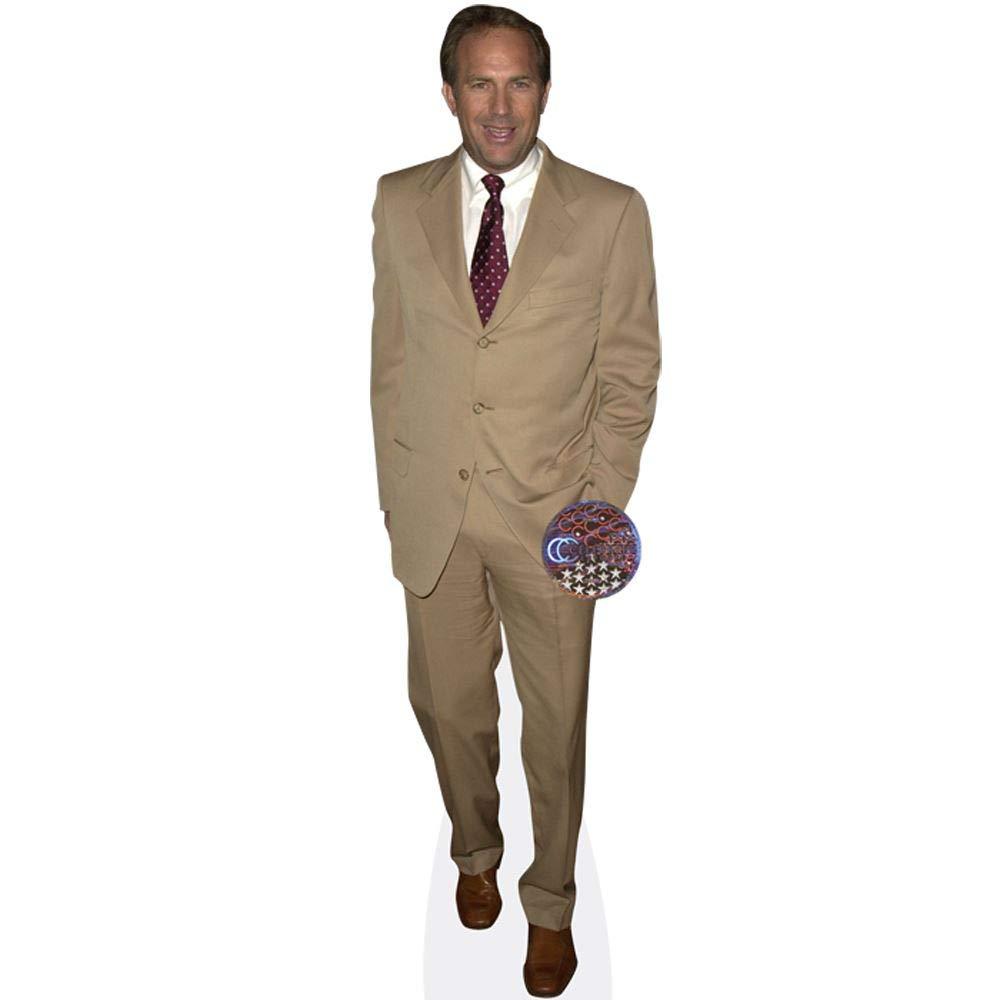 Cream Suit Cardboard Cutout Standee. Kevin Costner mini size