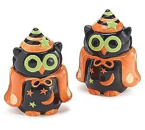 amazoncom whimsical halloween owl salt and pepper shaker