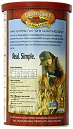 Nature\'s Path Organic Gluten-Free Oats, Old Fashioned, 18 Ounce Canister (Pack of 6)