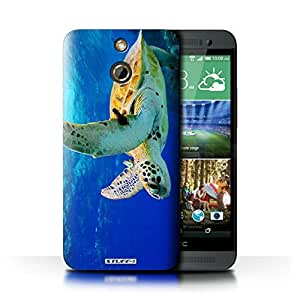 KOBALT? Protective Hard Back Phone Case / Cover for HTC One/1 E8 | Turtle Design | Wildlife Animals Collection