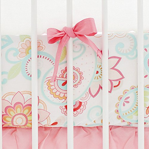 My Baby Sam Paisley Crib Sheet, Coral