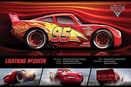 graphic relating to Lightning Mcqueen Printable Decals named : Cars and trucks 3 - Pixar/Disney Video Poster/Print