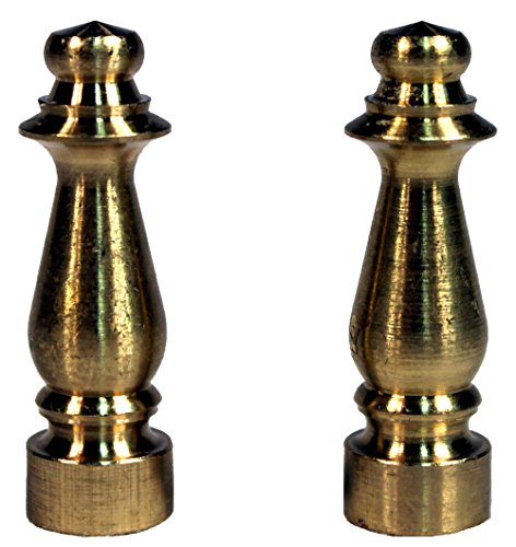 Creative Hobbies ELY1465 Solid Brass Finial for Lamp Shades 1-1/2 Inch Tall, Pack of 2 (Lamp Finials Copper)