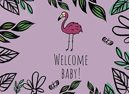 Welcome Baby!: Baby shower guest book for writing messages and advice in. Very cute hand drawn illustration style art.