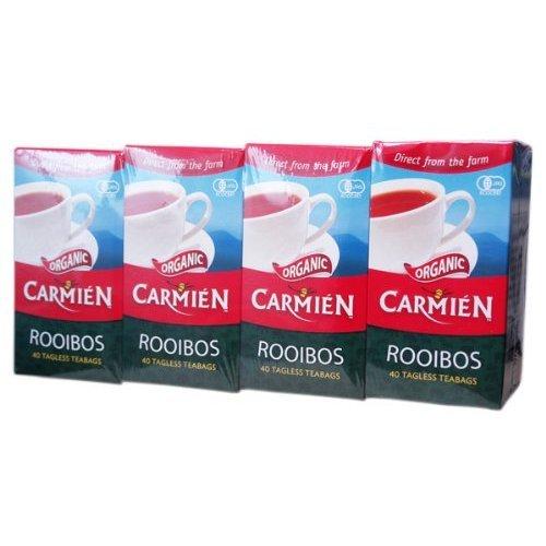 CARMIEN (Kamien) Organic Rooibos Tea 40 Bags (4 Pack, 160 Bags Total)
