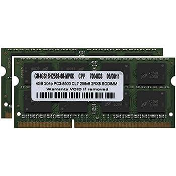 8GB 2x4GB PC3-8500 DDR3-1066 SODIMM Apple iMac 24-inch MB418LL//A
