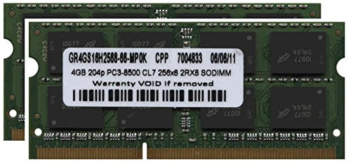 8GB Kit (2x4GB) DDR3-1067 SODIMM RAM Memory Upgrade for Apple MacBook Pro, Macbook and Imac by Gigaram