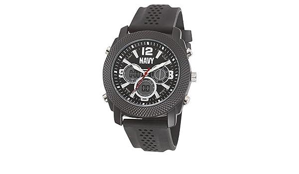 Marina de los Estados Unidos muñeca Armor C21 Watch, Blk Dial & Blk correa de caucho: Amazon.es: Relojes