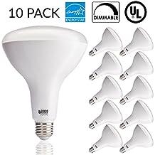 Sunco Lighting 10 PACK - BR40 LED 17WATT (100W Equivalent), 4000K Cool White, DIMMABLE, Indoor/Outdoor Lighting, 1400 Lumens, Flood Light Bulb- UL & ENERGY STAR LISTED