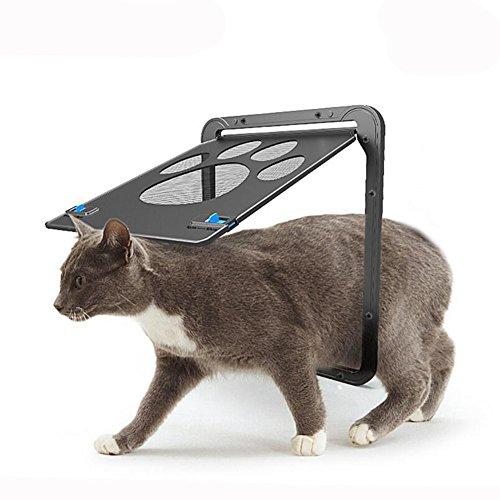 (HomeYoo Pet Screen Door, Pet Window Screen Dog Door Screen Door for Small Medium Large Size Cats Dogs, Safety Nets Gates Magnetic Flap Automatic Lock/Lockable (Small))