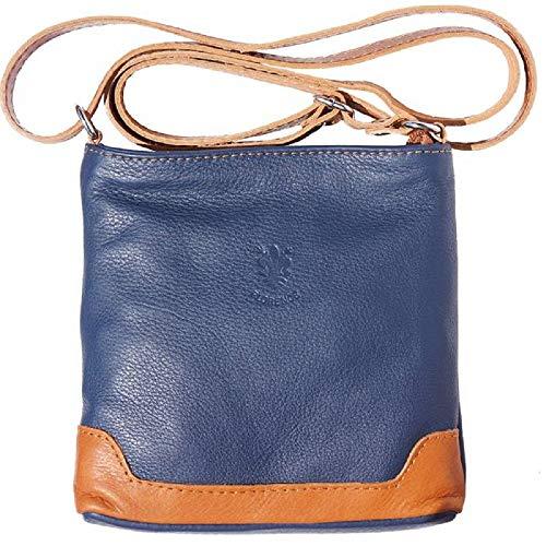 LaGaksta Mini Very Soft Leather Crossbody Bag Dark Blue Leather