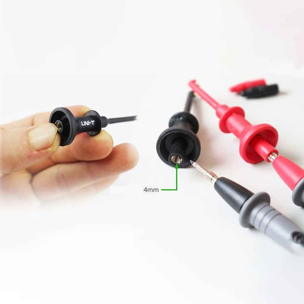 UT-C01 Test Hook Clip Multimeters Test Lead Extension Hook Probe Testing Clip 4mm Aperture Threaded Demino