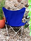 Classic Butterfly Chair - Royal blue Cover with White Frame