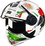 Studds Downtown D2 Full Face Helmet (White N10, XL)