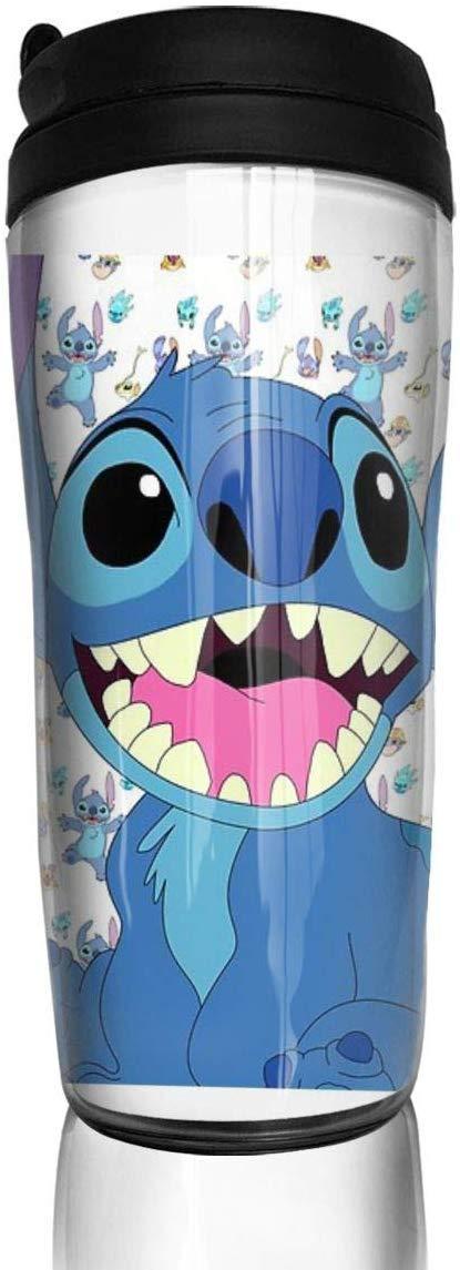 Botella Agua Acero Inoxidable Stitch ABS Travel Coffee Mugs With Quick Seal Lid Insulated 12 OZ Taza de Viaje Frasco de Vac/ío Termo Taza