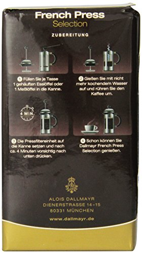 Dallmayr French Press Ground Coffee, 8.8 Ounce