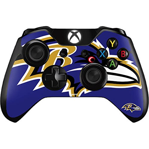 Skinit NFL Baltimore Ravens Xbox One Controller Skin - Baltimore Ravens Large Logo Design - Ultra Thin, Lightweight Vinyl Decal Protection by Skinit
