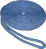 SeaSense Double Braid Nylon Dockline (3/8-Inch X 20-Foot, Blue