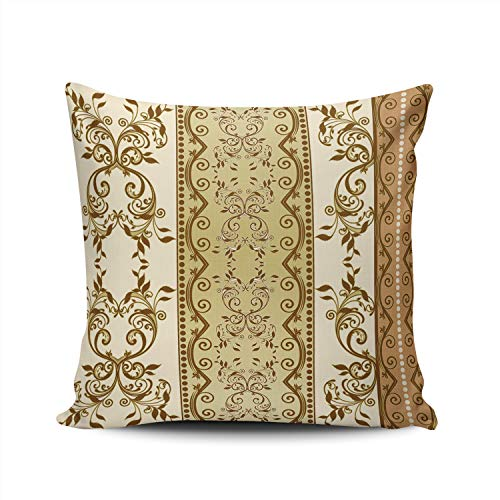 - WEINIYA Bedroom Custom Decor Elegant Flower Damask Throw Pillow Cover Elegant Design Double Sides Printed Patterning Square 18x18 Inches