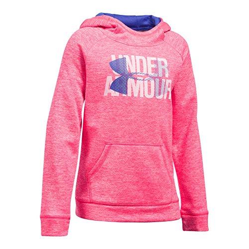Under Armour Girls' Armour Fleece Big Logo Printed Hoodie, Penta Pink/Penta Pink, Youth Medium