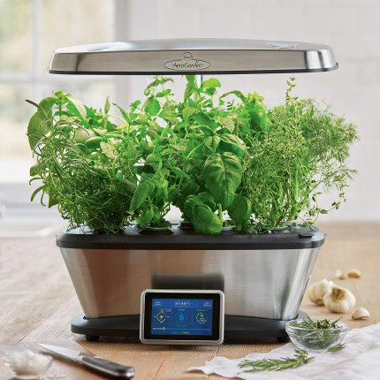 AeroGrow AeroGarden Bounty Elite with Gourmet Herbs Seed Pod Kit , Stainless Steel